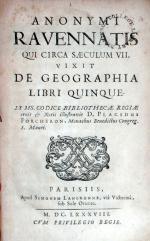 Anonymi Ravennatis Qui Circa Saeculum VII. Vixit De Geographia Libri Quinque
