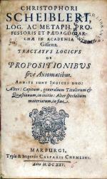 Tractatvs Logicvs de Propositionibus sive Axiomatibus