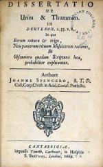 Dissertatio De Urim & Thummim. In Deuteron. c. 33. v. 8