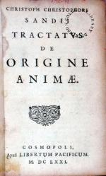 Tractatvs De Origine Animae
