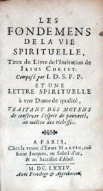 Les Fondemens De La Vie Spirituelle, Tirez du Livre de l'Imitation de Jesus Christ