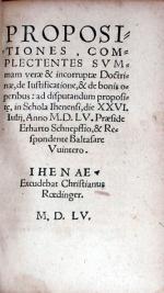Propositiones, Complectentes Svmmam verae & incorruptae Doctrinae...