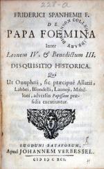De Papa Foemina Inter Leonem IV. & Benedictum III. Disquisitio Historica