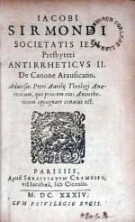 Antirrheticvs II. De Canone Arausicano