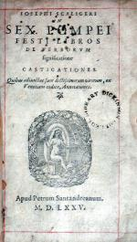 In Sex. Pompei Festi Libros De Verborvm significatione Castigationes (II)