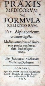 Praxis Medicorvm Vel, Formvla Remediorvm