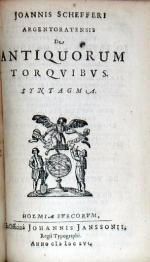 De Antiquorum Torqvibvs. Syntagma