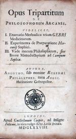 Opus Tripartitum De Philosophorum Arcanis