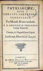 Patriarche, Sive Christi Servatoris Genealogia, Per Mundi Aetates traducta