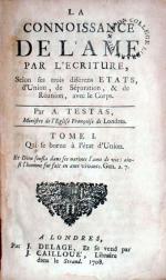 La Connoissance De L'Ame Par L'Ecriture (II)