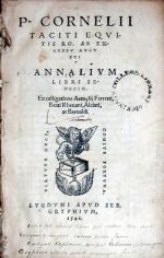 Annalivm Libri Sedecim (Vol. III)