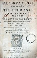 'Ηθικοι χαρακτηρες.…Notationes Morvm