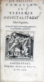 De Tesseris Hospitalitatis Liber singularis
