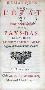 Remarques Sur L'État Des Provinces Unies Des Pay-Bas