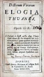 Doctorum Virorum Elogia Thuanea