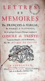 Lettres Et Memoires De François de Vargas, De Pierre de Malvenda...