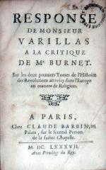Response…A La Critique De Mr. Burnet