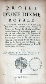 Project D'Une Dixme Royale