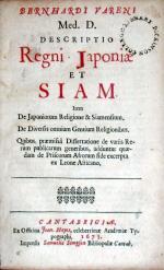 Descriptio Regni Japoniae Et Siam. Item De Japoniorum Religione...