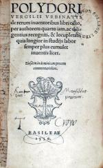 De rerum inuentoribus libri octo, quarto iam, recogniti