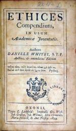 Ethices Compendium, In Usum Academicae Juventutis