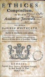 Ethices Compendium,.tertiò editum