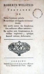 Tentamen De Variis hominum naturis, Remediisque ad singulas accommodandis