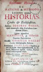 Relectiones Hymales..Quibus appenditur Mantissa, de Historicis Gentium...