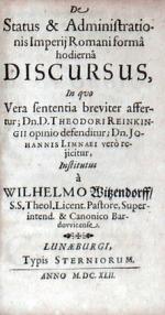 De Status & Administrationis Imperij Romani formâ hodiernâ Discursus