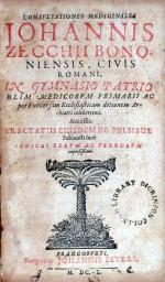 Consvltationes Medicinales…Accessit. Tractatus Eiusdem De Pulsibus