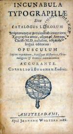 Incunabula Typographiae Sive Catalogus Librorum Scriptorumque proximis...