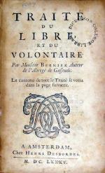 Traité du Libre, et du Volontaire