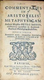 Commentarius In Aristotelis Metaphysicam