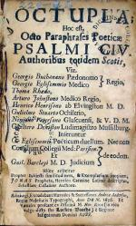 Octupla: Hoc est, Octo Paraphrases Poeticae Psalmi CIV...