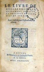 Le Livre De L'Ecclesiastiqve...