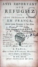 Avis Important Aux Refugiez sur leur prochain retour En France...