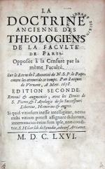 La Doctrine Ancienne Des Theologiens De La Facvlté De Paris...