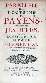 Parallele De la Doctrine Des Payens Avec celle des Jesuites...