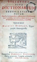 Biglotton sive Dictionarium Teuto-Latinum Novum