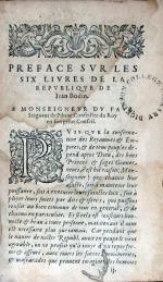 Les six livres de la république, ensemble une apologie de René Herpin...