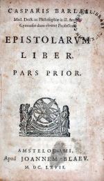 Epistolarvm Liber. Pars Prior (-Altera)