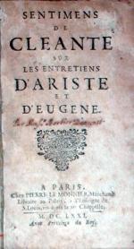Sentimens de Cleante sur Les Entretiens D'Ariste et D'Eugene