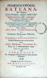 Pharmacopoeia Bateana, .Huic accesserunt Arcana Goddardiana