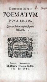 Poematvm Nova Editio