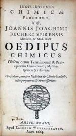 Institutiones Chimicae Prodromae, id est,…Oedipus Chimicus...
