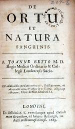 De Ortu et Natura Sanguinis
