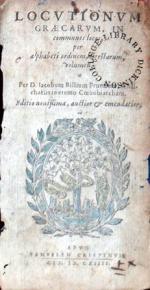 Locvtionvm Graecarvm, in communes locos, per alphabeti ordinem...
