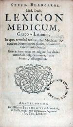 Lexicon Medicum, Graeco-Latinum