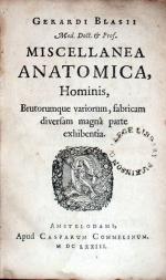 Miscellanea Anatomica, Hominis, Brutorumque variorum...