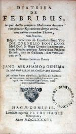 Diatriba de Febribus,…adposita est Epistola Cl. Auctoris ad Interpretem...